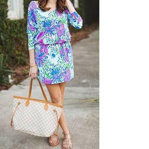 Lilly Pulitzer Cara Dolman Sleeve Dress S 6 Tiger